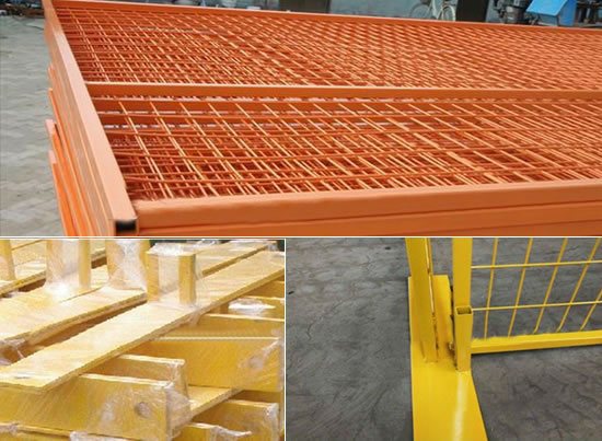 PVC Coated Galvanized Rectangular Mesh, Framed with Square Tubes, Stackable and Mobile for Quick Fencing Installation