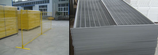 Galvanized Steel Welded Mesh Panels Portable Barrier with Flat Base